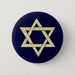 Matzoh Star of David Pinback Button