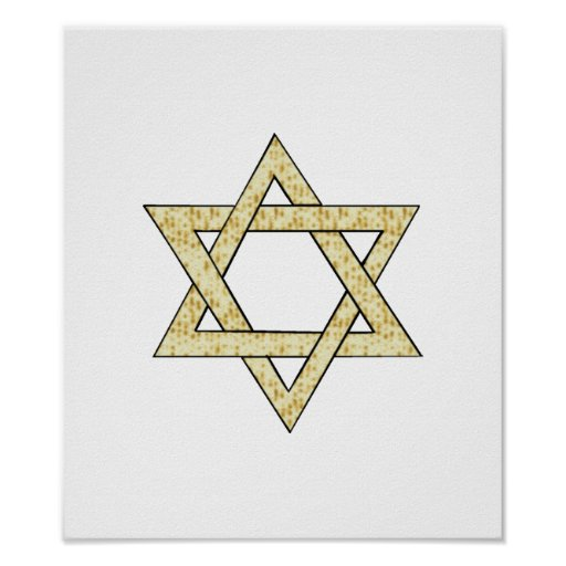 Matzoh Star of David Poster