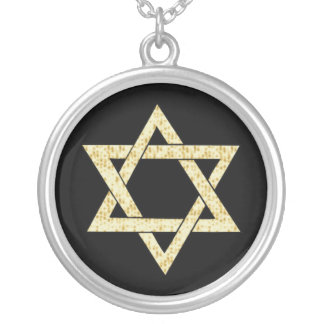 Matzoh Star of David Silver Plated Necklace