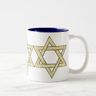 Matzoh Star of David Two-Tone Coffee Mug