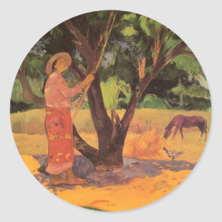 'Mau Taporo' - Paul Gauguin Classic Round Sticker