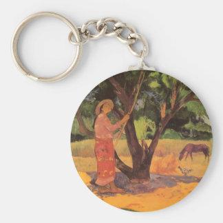 """Mau Taporo"" - Paul Gauguin Llavero Redondo Tipo Pin"