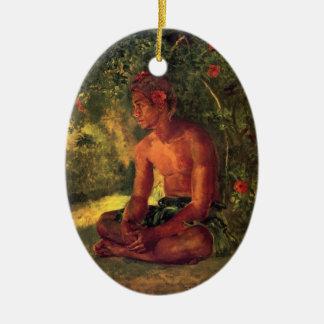 Maua, A Samoan - John LaFarge Ceramic Ornament