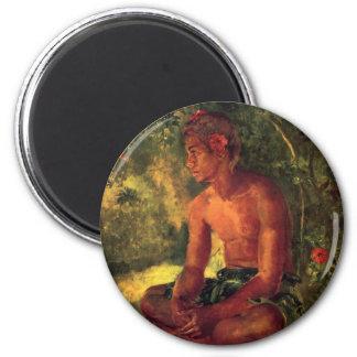 'Maua, A Samoan' - John LaFarge Magnet