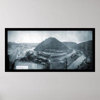 Mauch Chunk, PA Photo 1879 Poster
