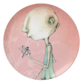 Maud and her dragonfly dinner plate