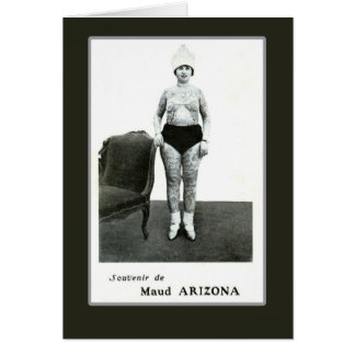 Maud Arizona, Tattooed Wonder Lady Card