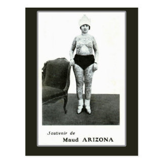 Maud Arizona, Tattooed Wonder Lady Postcard