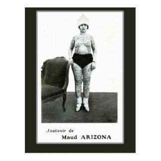 Maud Arizona, Tattooed Wonder Lady Post Card