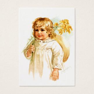 Maud Humphrey: Autumn Girl with Golden Rod Business Card