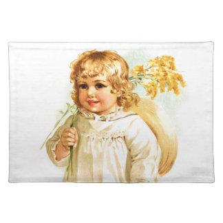 Maud Humphrey: Autumn Girl with Golden Rod Cloth Placemat