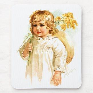 Maud Humphrey: Autumn Girl with Golden Rod