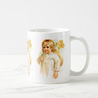 Maud Humphrey: Autumn Girl with Golden Rod Classic White Coffee Mug
