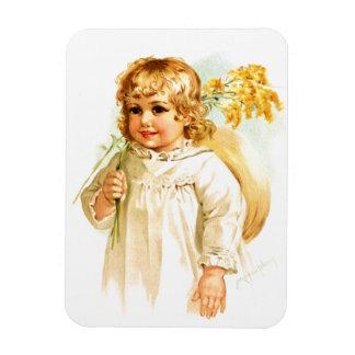 Maud Humphrey: Autumn Girl with Golden Rod Vinyl Magnet