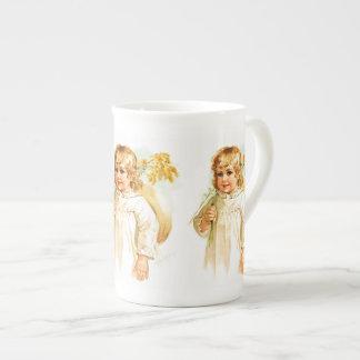 Maud Humphrey: Autumn Girl with Golden Rod Tea Cup