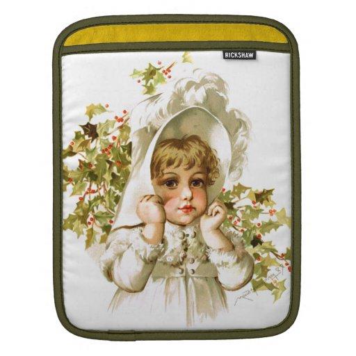 Maud Humphrey: Autumn Girl with Holly iPad Sleeve