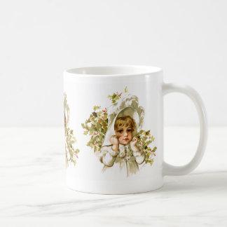 Maud Humphrey: Autumn Girl with Holly Classic White Coffee Mug