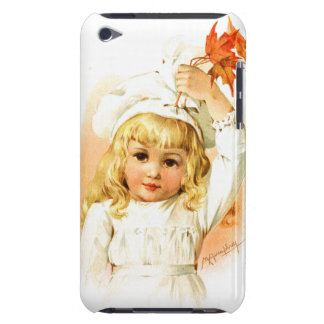 Maud Humphrey: Autumn Girl with Maple Leafs iPod Case-Mate Cases