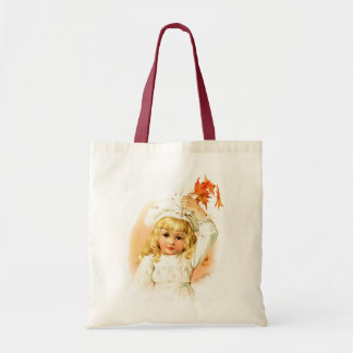 Maud Humphrey: Autumn Girl with Maple Leafs Tote Bag