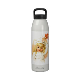 Maud Humphrey: Autumn Girl with Maple Leafs Water Bottles