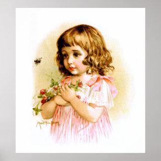 Maud Humphrey: Chica del verano con las flores y l Impresiones