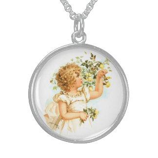 Maud Humphrey: English Child Round Pendant Necklace