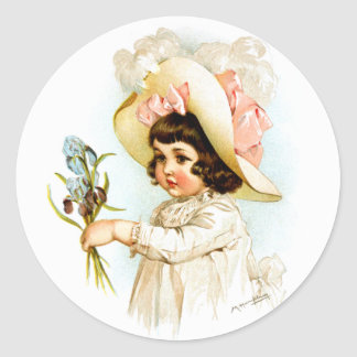 Maud Humphrey: French Child Classic Round Sticker