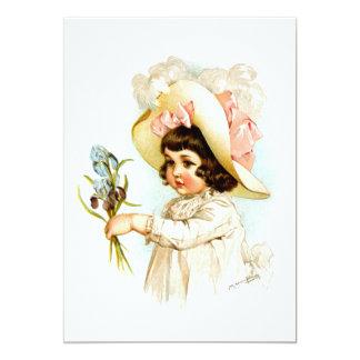 Maud Humphrey: French Child 5x7 Paper Invitation Card