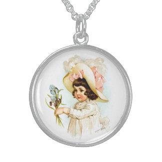 Maud Humphrey: French Child Round Pendant Necklace