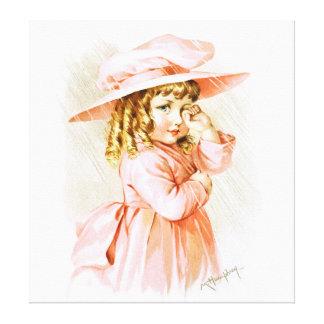 Maud Humphrey: Spring Girl in the Rain Canvas Prints