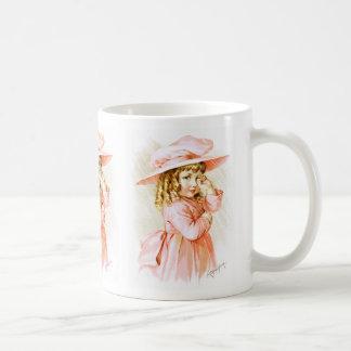 Maud Humphrey: Spring Girl in the Rain Classic White Coffee Mug