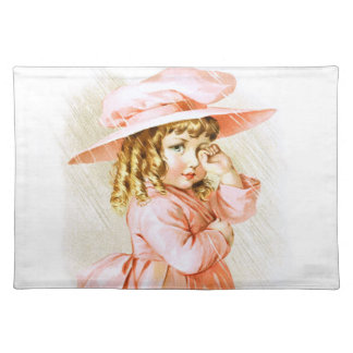 Maud Humphrey: Spring Girl in the Rain Placemat