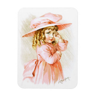 Maud Humphrey: Spring Girl in the Rain Rectangular Magnets