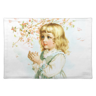 Maud Humphrey: Spring Girl under the Orchard Tree Cloth Placemat