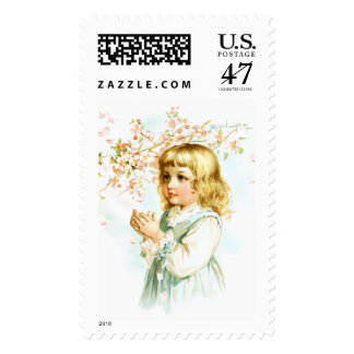 Maud Humphrey: Spring Girl under the Orchard Tree Postage