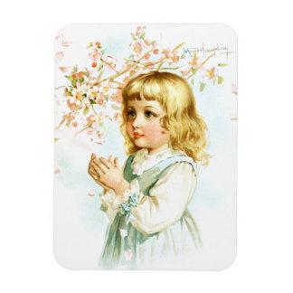 Maud Humphrey: Spring Girl under the Orchard Tree Vinyl Magnet