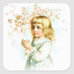 Maud Humphrey: Spring Girl under the Orchard Tree Square Sticker