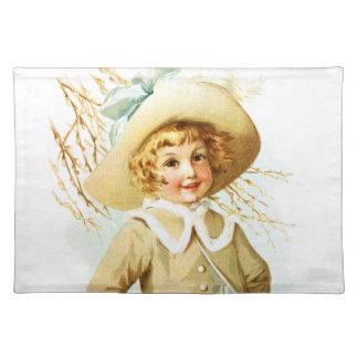 Maud Humphrey: Spring Girl under Willow Catkin Cloth Placemat