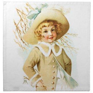 Maud Humphrey: Spring Girl under Willow Catkin