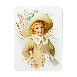 Maud Humphrey: Spring Girl under Willow Catkin Vinyl Magnets