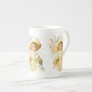 Maud Humphrey: Spring Girl under Willow Catkin Tea Cup