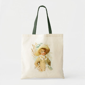 Maud Humphrey: Spring Girl under Willow Catkin Tote Bag