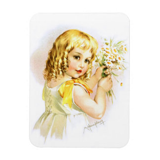 Maud Humphrey: Summer Girl with Daisies Magnets