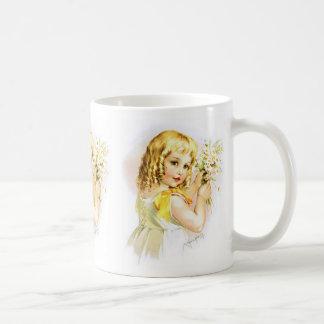 Maud Humphrey: Summer Girl with Daisies Classic White Coffee Mug