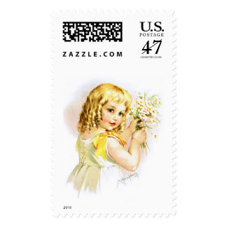 Maud Humphrey: Summer Girl with Daisies Postage