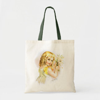 Maud Humphrey: Summer Girl with Daisies Tote Bag
