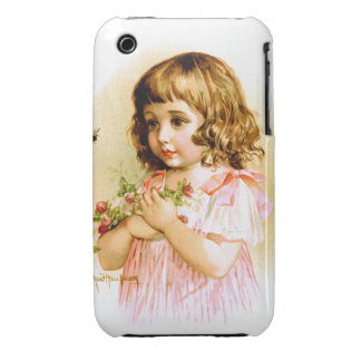 Maud Humphrey: Summer Girl with Flowers and Bee iPhone 3 Cover