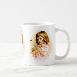 Maud Humphrey: Summer Girl with Flowers and Bee Classic White Coffee Mug