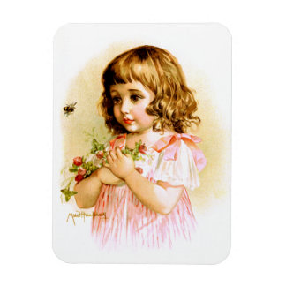 Maud Humphrey: Summer Girl with Flowers and Bee Magnets