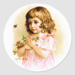 Maud Humphrey: Summer Girl with Flowers and Bee Stickers